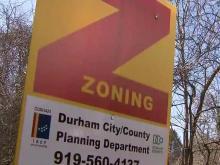 Durham zoning sign