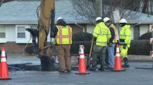 IMAGES: Water main break closes part of MLK Jr. Blvd. in Raleigh