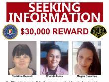 FBI reward: 3 Lumberton women found dead