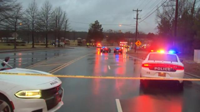 A pedestrian was hit and killed by a vehicle Tuesday morning near W.G. Pearson Elementary School in Durham, police said.