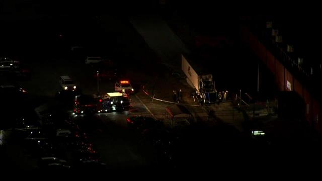 A tractor-trailer driver died early Wednesday morning in Sanford when the truck caught fire.