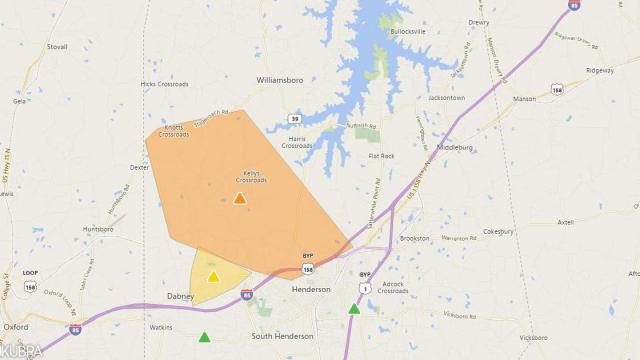 Vance County power outage