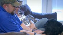 IMAGES: Rescued therapy dog saves life of veteran facing depression, suicide