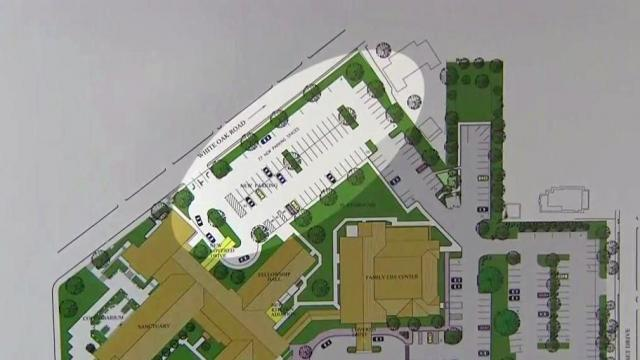 Artist rendering of proposed parking lot