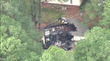 IMAGES: Fire rips through northeast Raleigh apartment building