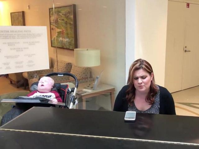 Mom sings poignant song to her critically ill baby boy at Duke