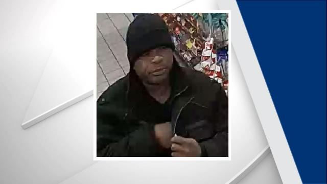 The man in the photos is believed to be responsible for the Feb. 8 robbery of the Circle K at 4100 Western Blvd., which was reported at 12:57 p.m.