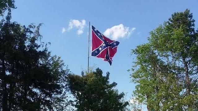 Confederate flag rises in Orange County