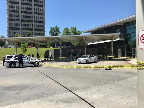 Man injured in shooting near Durham bus station