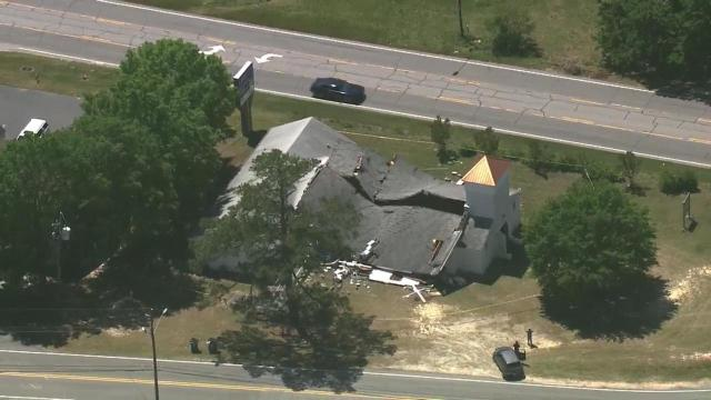 Church roof collapse