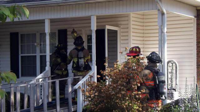 Firefighters respond to a fatal house fire in Aberdeen on May 4, 2018. (Photo by Billy Marts/Aberdeen Times)