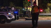 IMAGES: Husband in critical condition, wife injured after crash near RDU