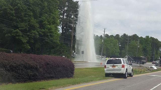 Knightdale water main accident