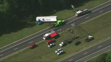 IMAGE: Officials: 1 dead in wrong-way I-95 crash involving Pepsi truck in Cumberland County