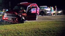 IMAGES: 6 injured in wreck involving 4 cars, 1 boat in Johnston County