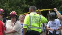 IMAGES: Emergency crews rescue man trapped 25 feet below ground in Dunn well