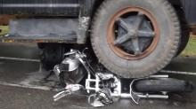 IMAGES: Teacher killed when dump truck, motorcycle collide in Moore County