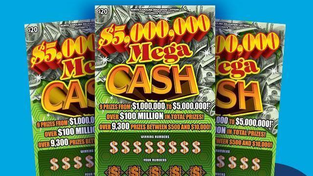 Bobby Matthews Jr. said he plans to start a new career after he won a $5 million lottery prize. Credit: NC Education Lottery