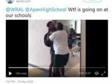 Apex High teacher suspended