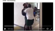 IMAGE: Apex High teacher suspended after video appears to show him choking student