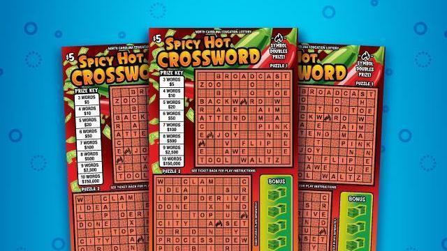 New Spicy Hot Crossword Lotto Game Lands Hoke County Man 150k