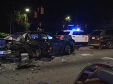 7 people hurt in multi-car crash on Glenwood Avenue