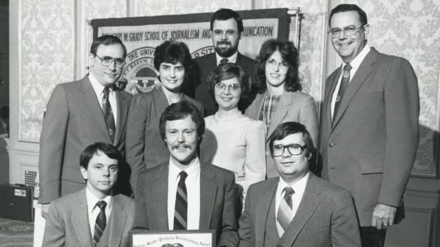 WRAL News Team in 1983