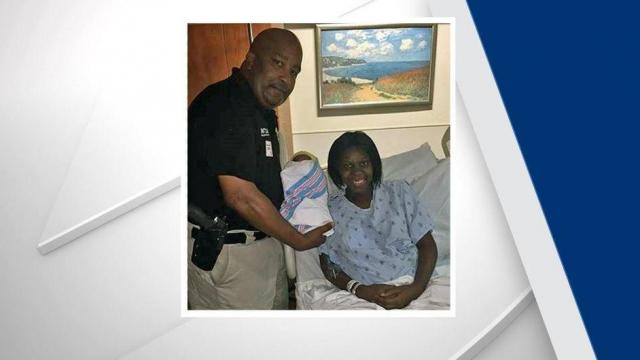 Sgt. W.C. Johnson, baby Achilles and his mom