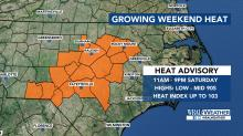 IMAGES: Heat advisory issued as sweltering hot weather moves in