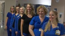 IMAGE: Six nurses working in the same unit at Winston-Salem hospital find out they're all pregnant