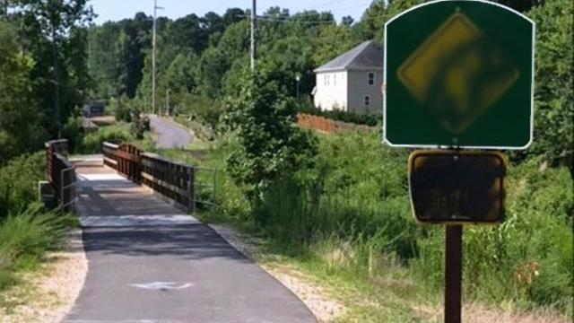 Wake Forest greenway defaced with crude images