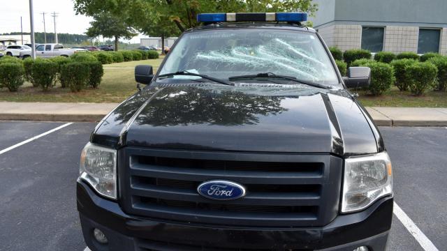 Vandalized Edgecombe County patrol vehicles