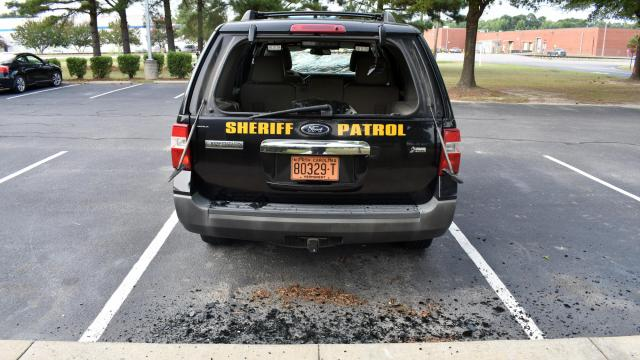 Edgecombe County patrol vehicles were vandalized in July 2018. (Photo courtesy of Edgecombe County Sheriff's Office)