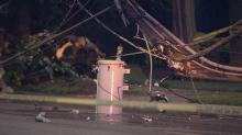 IMAGES: Man killed in single-car crash in Raleigh