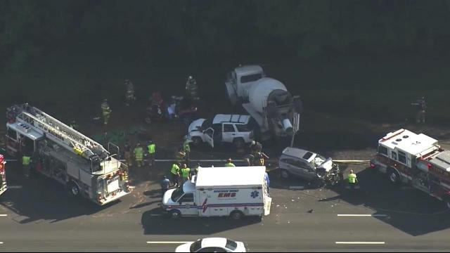 Man killed in multi-vehicle wreck on I-40 in Raleigh :: WRAL com