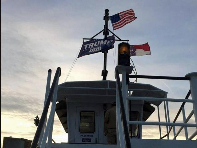 2 ferry workers suspended for week for pro-Trump flag :: WRAL.com