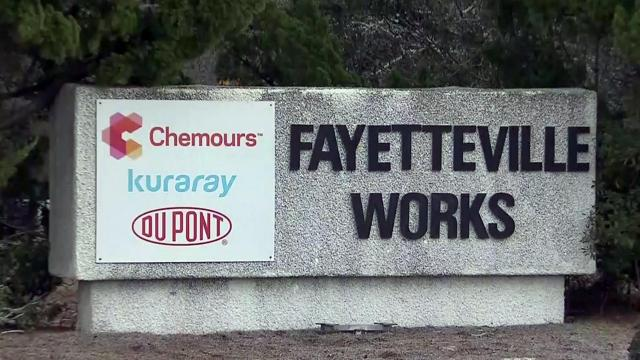 Chemours sign, Fayetteville Works plant