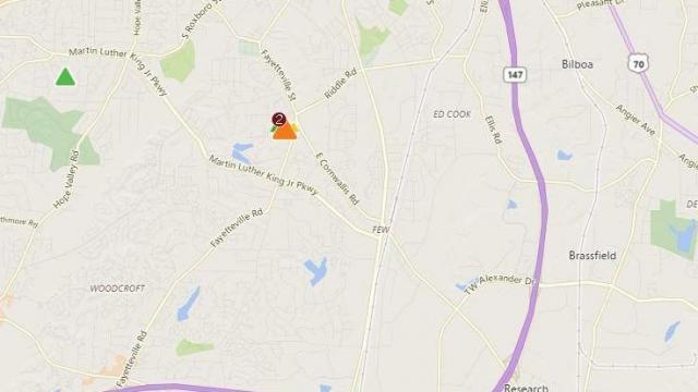 More than 200 without power in Durham after car damages power pole