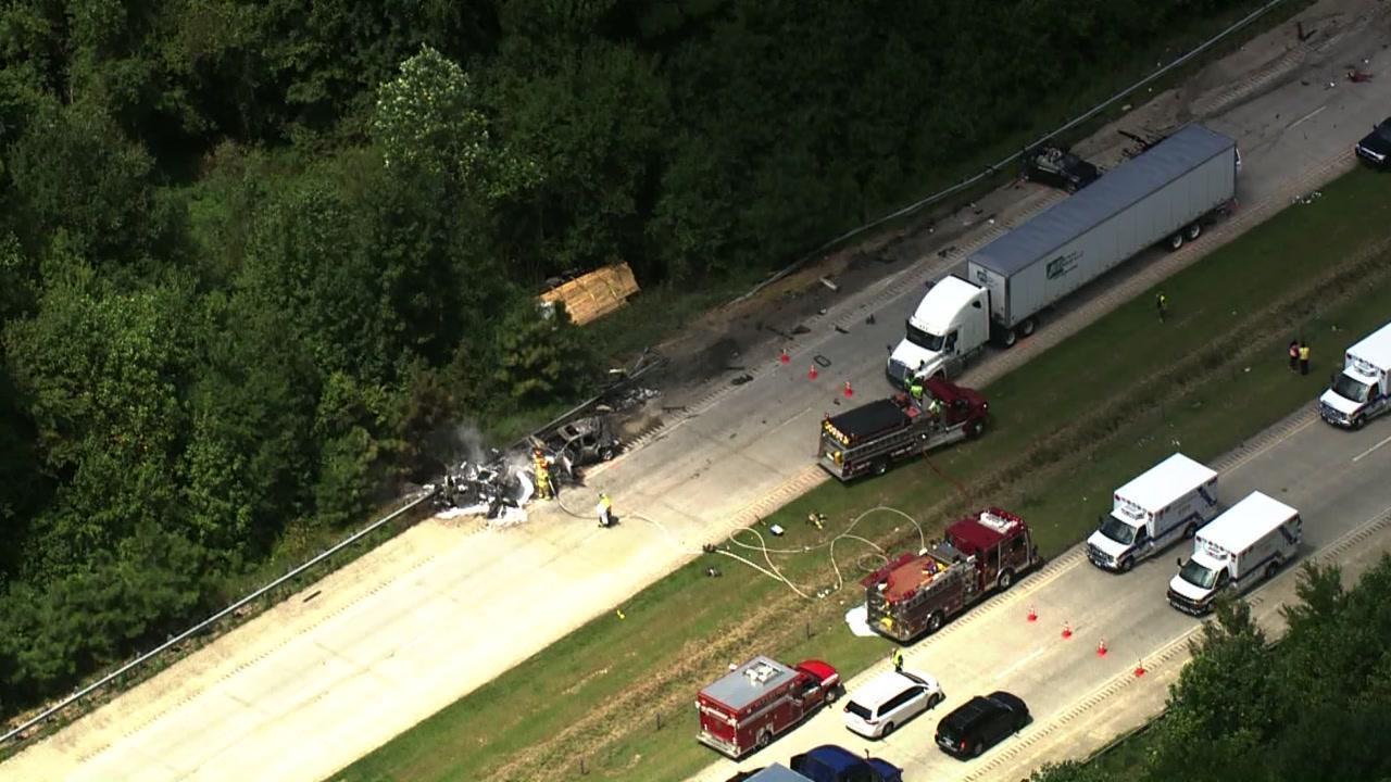 3 dead in fiery wreck on I-40 near McGee's Crossroads