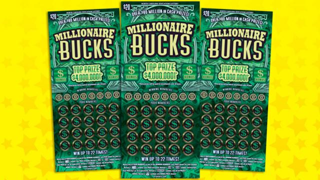 Millionaire Bucks lottery scratch-off game