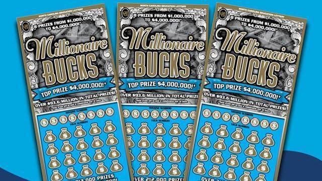 A Durham woman bought a winning Millionaire Bucks game worth $4 million. Photo credit: NC Education Lottery.