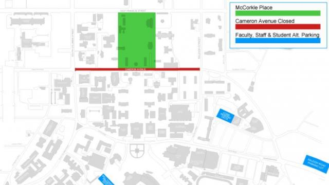 Map of Chapel Hill road closure