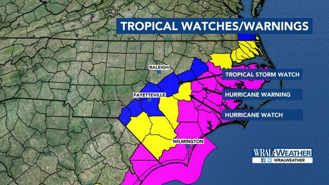 Live Florence updates: Storm track shifts south, will still