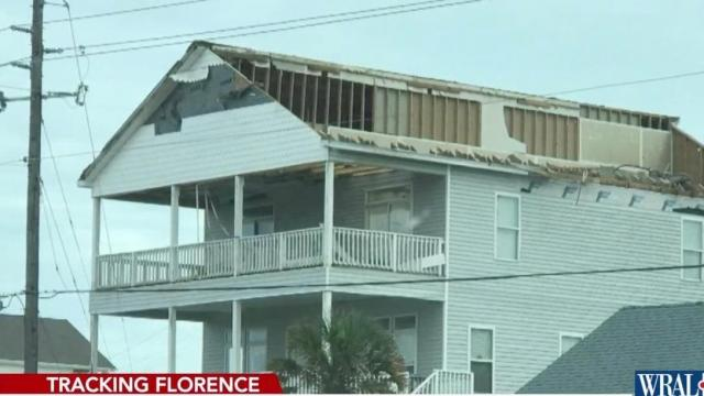 Residents begin to assess damage on Emerald Isle, Atlantic