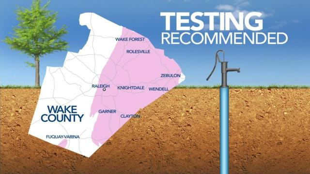 Eastern Wake County residents urged to get wells tested