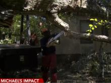 Siler City residents witness close calls from tree damage