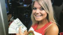 IMAGES: Man orders 2 waters at Greenville hot dog joint, leaves $10,000 tip