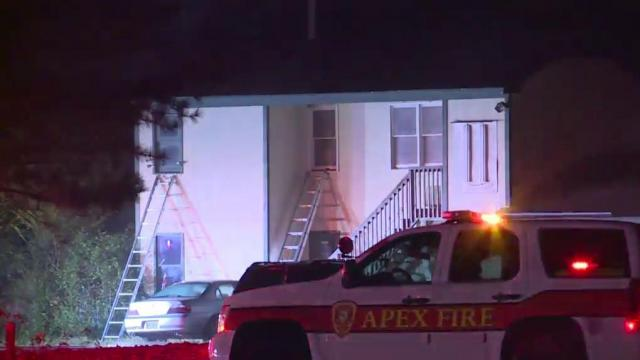 Crews investigating fire at Apex golf shop