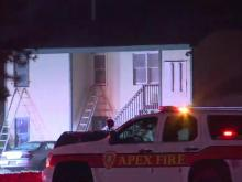 Crews investigating fire at Apex golf shop