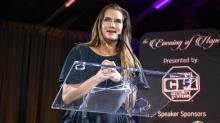 IMAGES: Brooke Shields speaks about mental health at Angus Barn